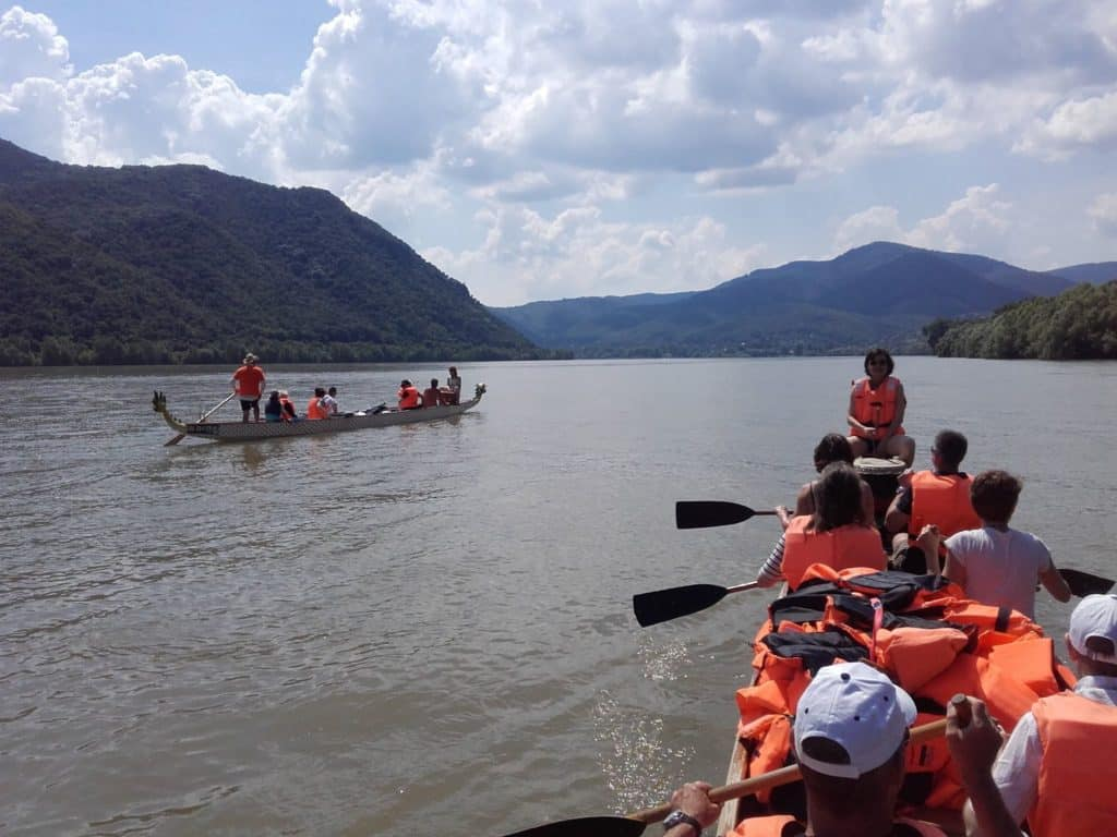 adventure, danube, dragon boat