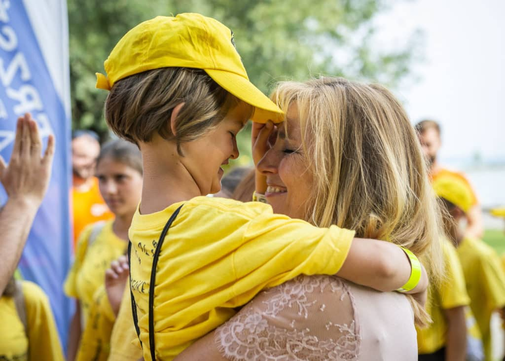 First Lady visits state-sponsored children's summer camp