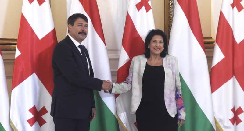 hungarian president in georgia