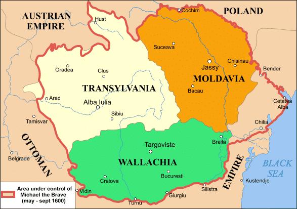 Territories of Mihai Viteazu