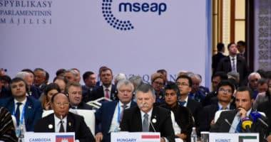 Kövér attends Eurasian house speakers' summit in Kazakhstan