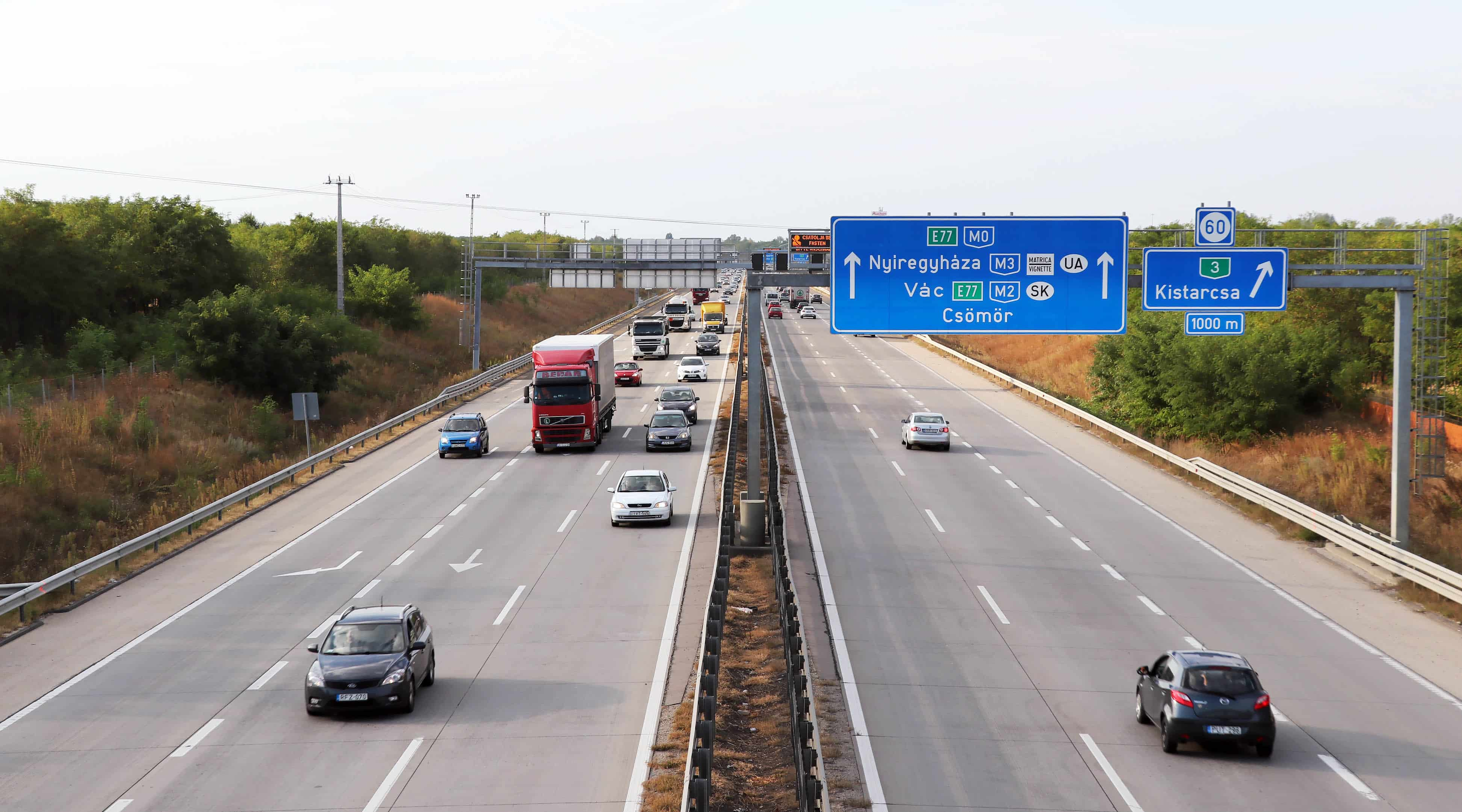 M0 Hungary Budapest traffic cars transport motorway