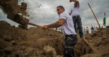 grave-digging competition