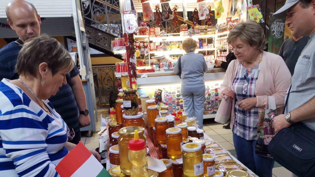 marché du miel en Hongrie