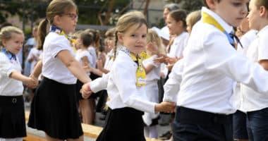 school children Hungary