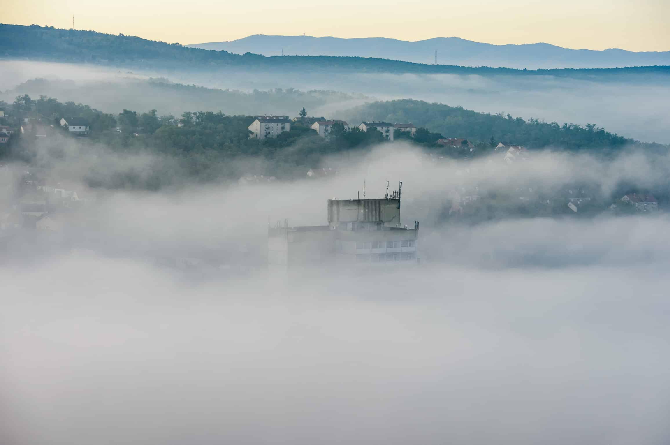 weather fog hungary