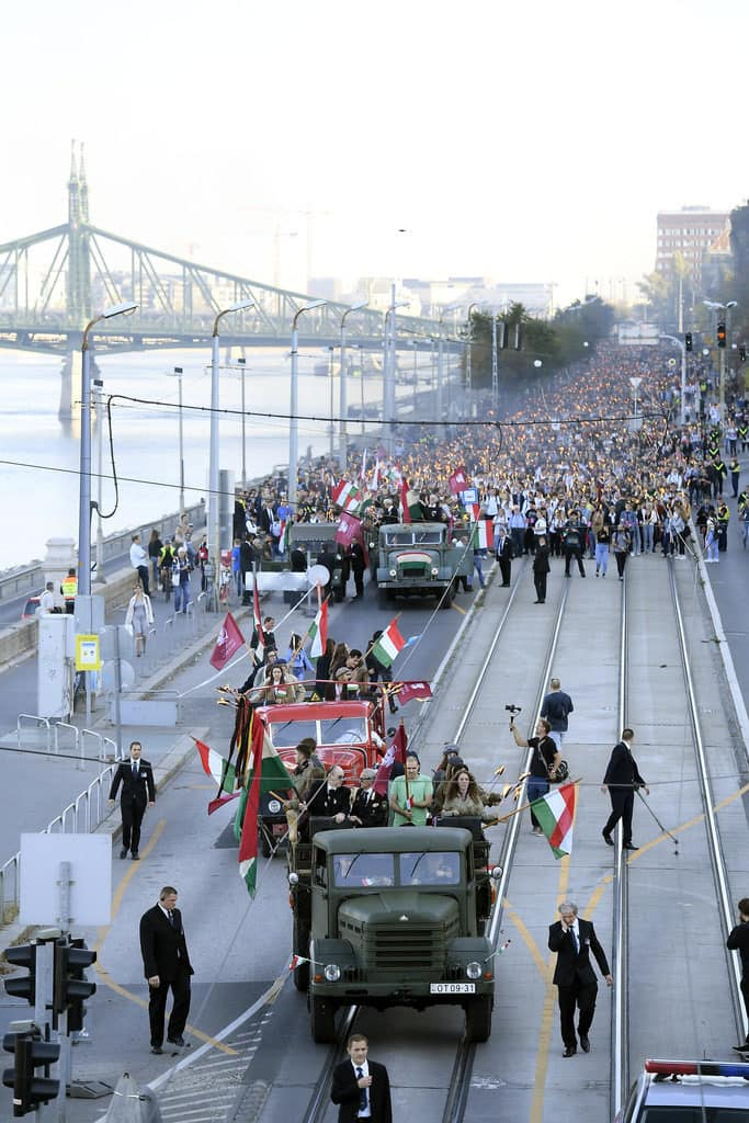2019 October 22 Traditional torch-lit march in Budapest 1956