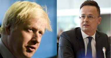 Boris Johnson and Péter Szijjártó