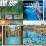 Budapest baths collage