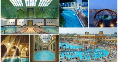 Budapest baths collage