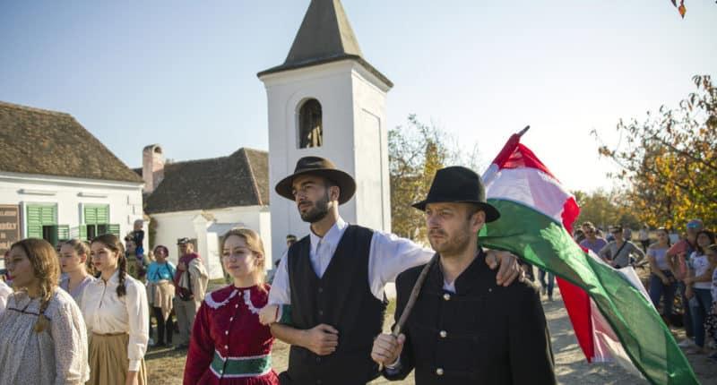 Szentendre Hungary-autumn-hungarian-flag