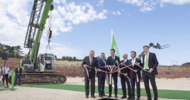 Litér Sennebogen groundbreaking ceremony in NW Hungary