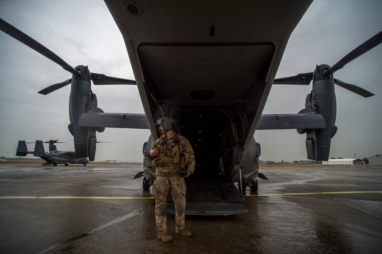 CV-22B Osprey - Special aircraft of the U.S. Air Force flew over Budapest.