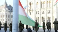 Hungary's national flag was hoisted in front of the Parliament building!