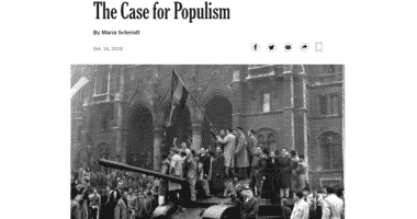 schmidt case for populism