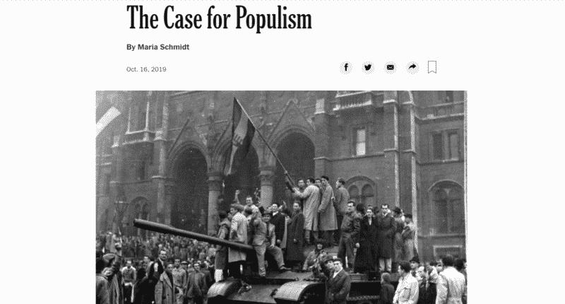 schmidt case for populism