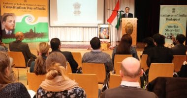 Embassy Of India celebrated the 70th Constitution Day Of India Budapest
