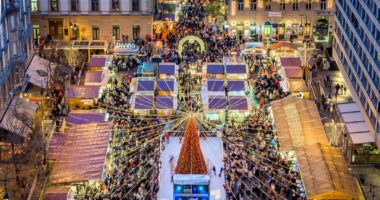 Budapest, Hungary, Christmas, market