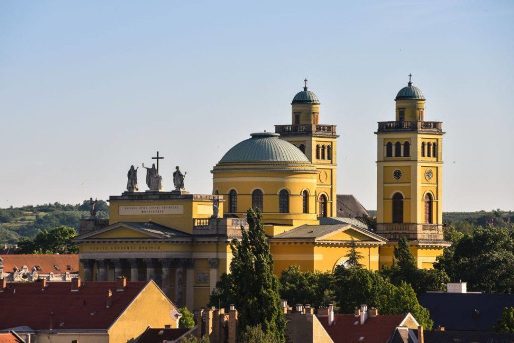 Eger, basilica, view, building