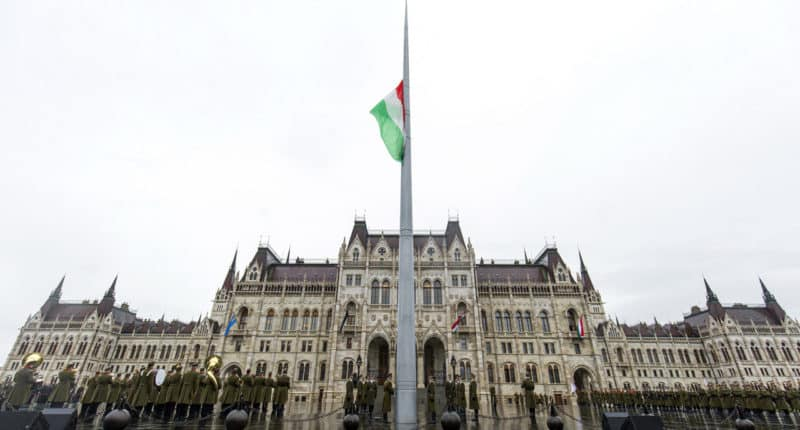 Hungarian flag at half-mast to mark crushing of 1956 uprising