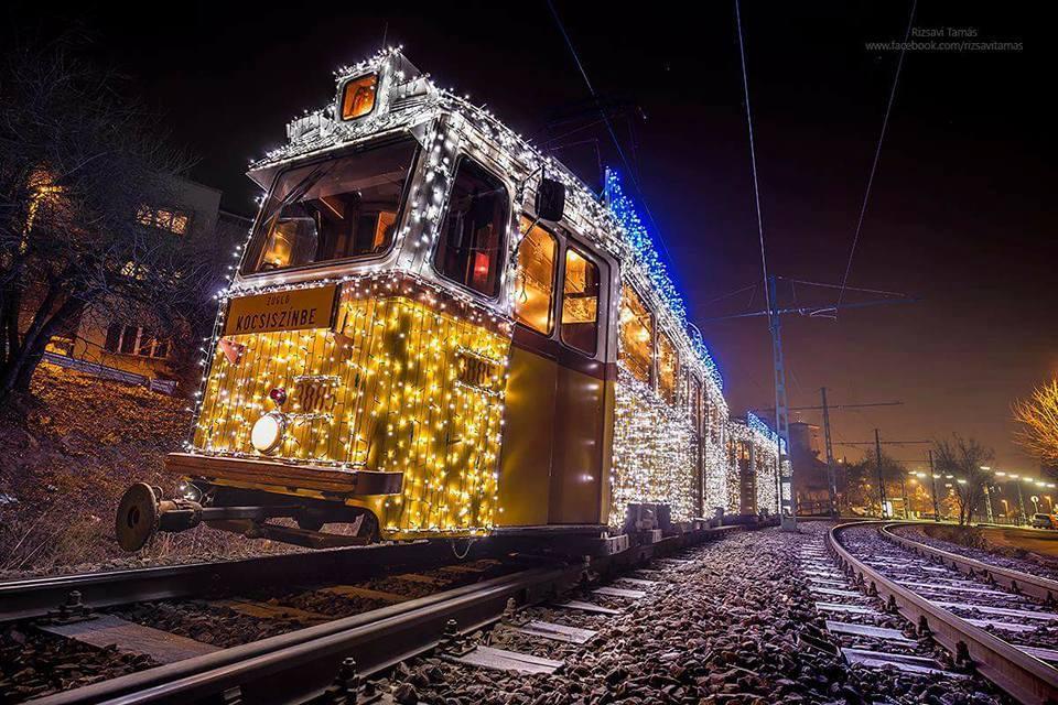 Light tram, Budapest, Hungary