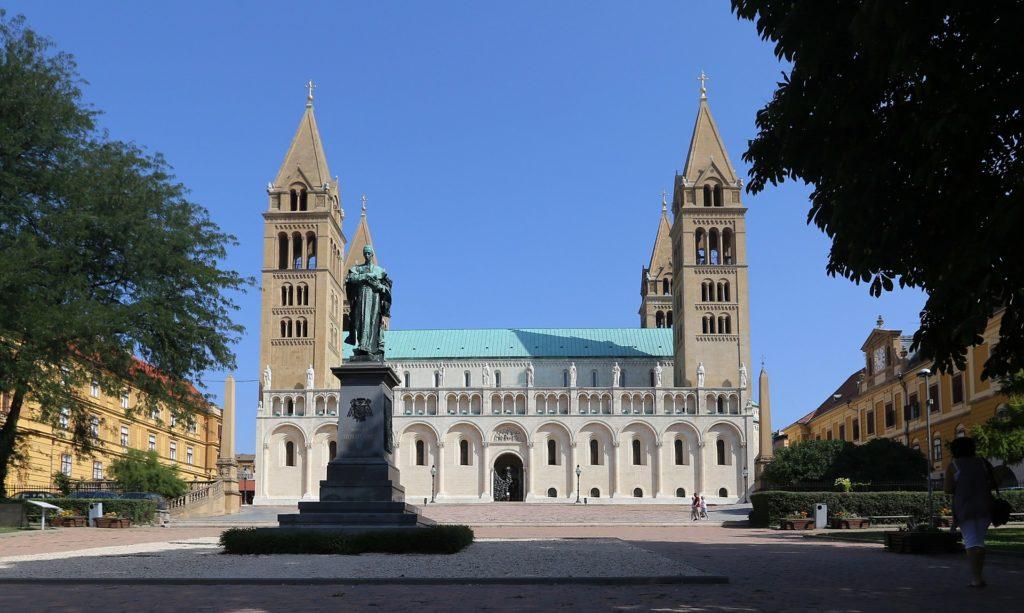 Pécs, basilica, view, building