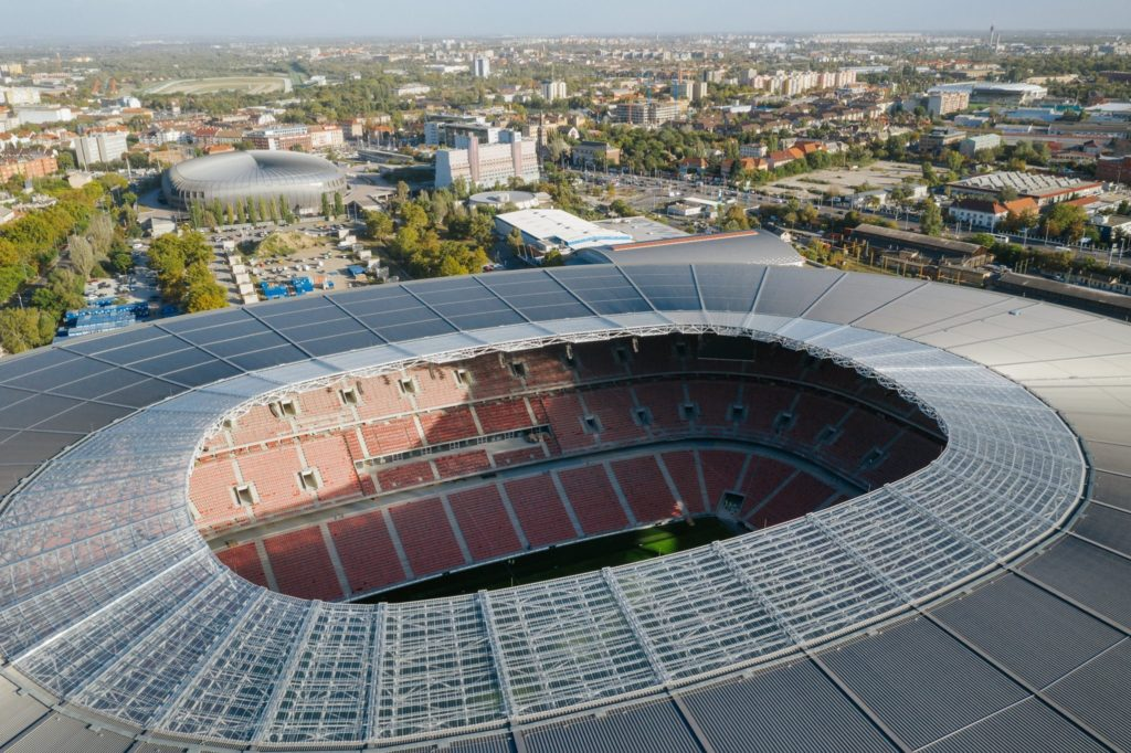 Puskás Arena, roof, Budapest, Hungary