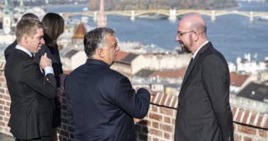 Viktor Orbán and Charles Michel