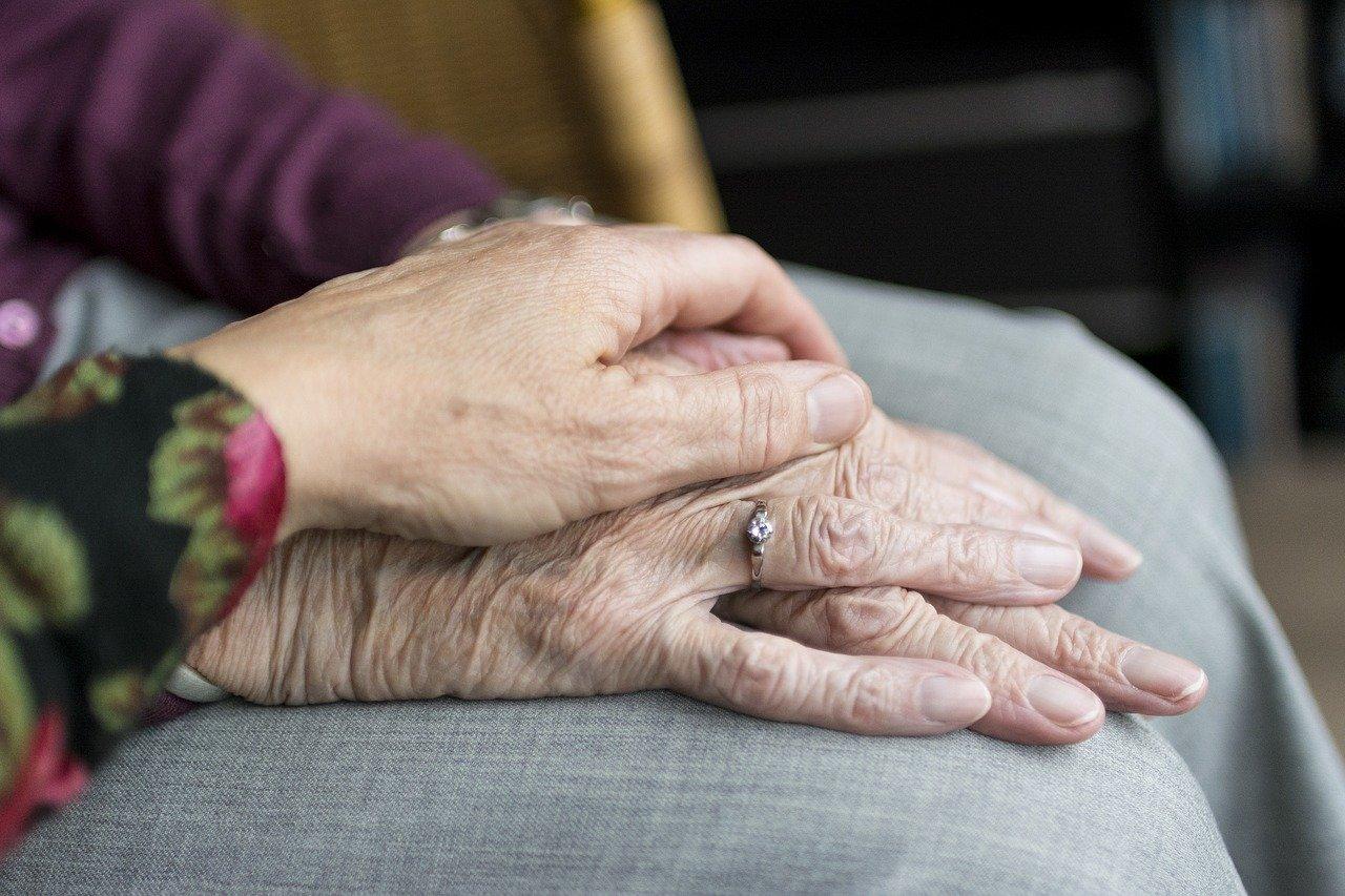 hands help old retirement