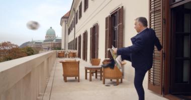 orbán kicks the ball to the stadium