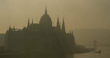 fog Budapest danube