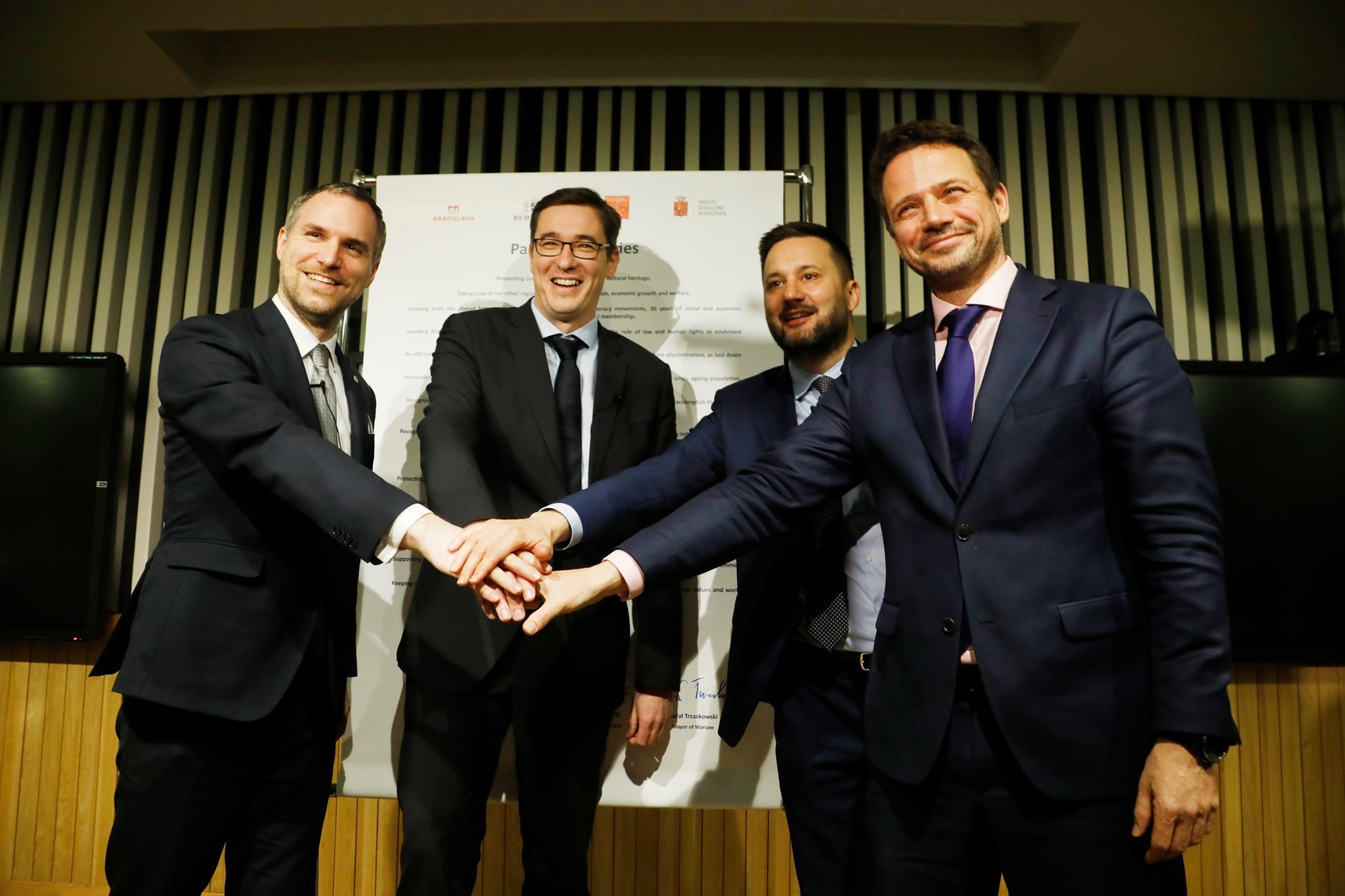 Mayors of V4 countries' capitals sign Pact of Free Cities