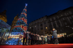Budapest, Hungary, St. Stephen's Basilica, Christmas, market