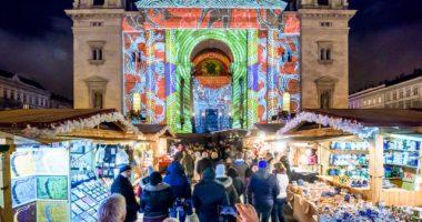 St. Stephen's Basilica, Budapest, Hungary, Christmas, market