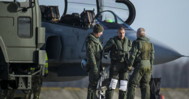 Twelve Gripen fighters of the Hungarian Air Force returned to the Kecskemét air base