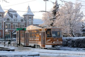 advent, Hungary, tram, Miskolc