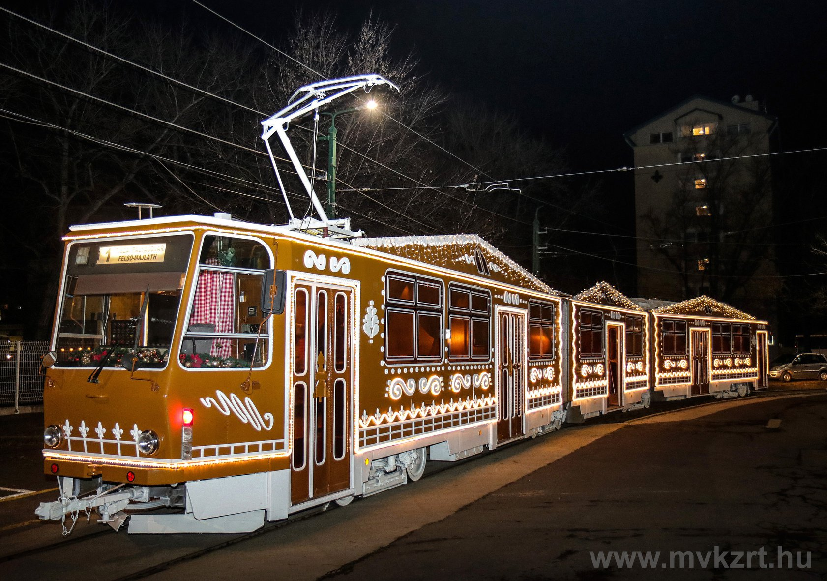 advent, tram, Hungary, Miskolc