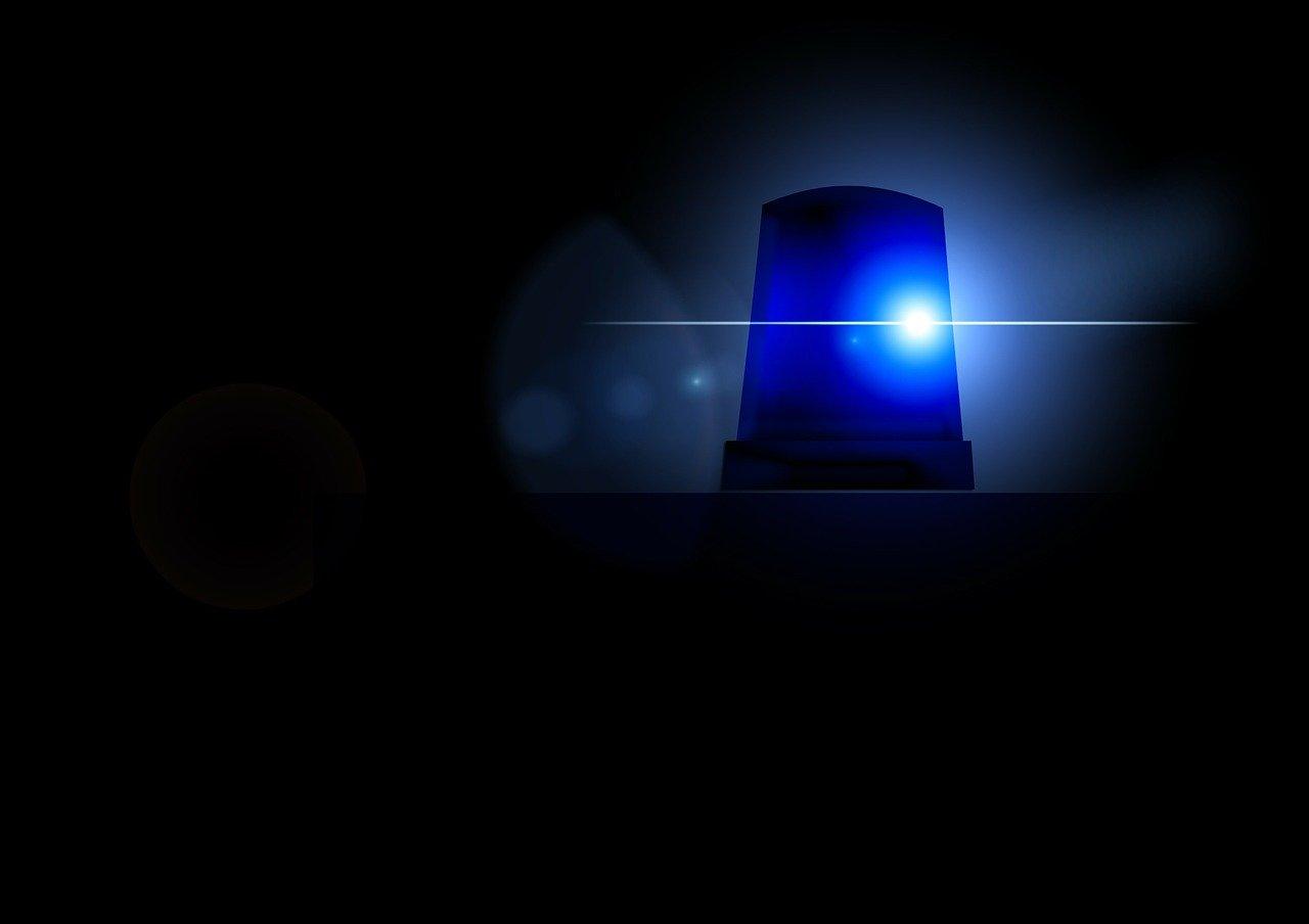 blue-light ambulance police