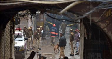 fire in new delhi