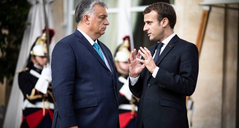 orbán macron talking
