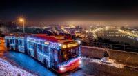 winter trolley bus