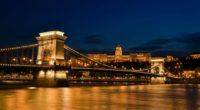 Budapest, Chain Bridge, view, bridge