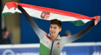 Hungarian skating ace Shaolin Sándor Liu won the 1,000m men's final debrecen