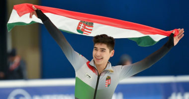 Hungarian skating ace Shaolin Sándor Liu won the 1,000m men's final debrecen