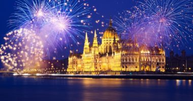 Hungary, Budapest, New Year's Eve, 2020
