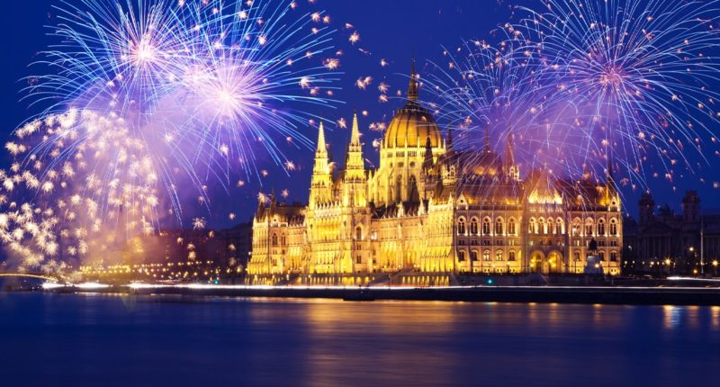 Hungary, Budapest, New Year's Eve, 2020