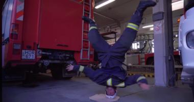 breakdancing firefighter