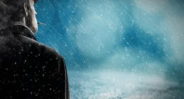 man mood winter weather
