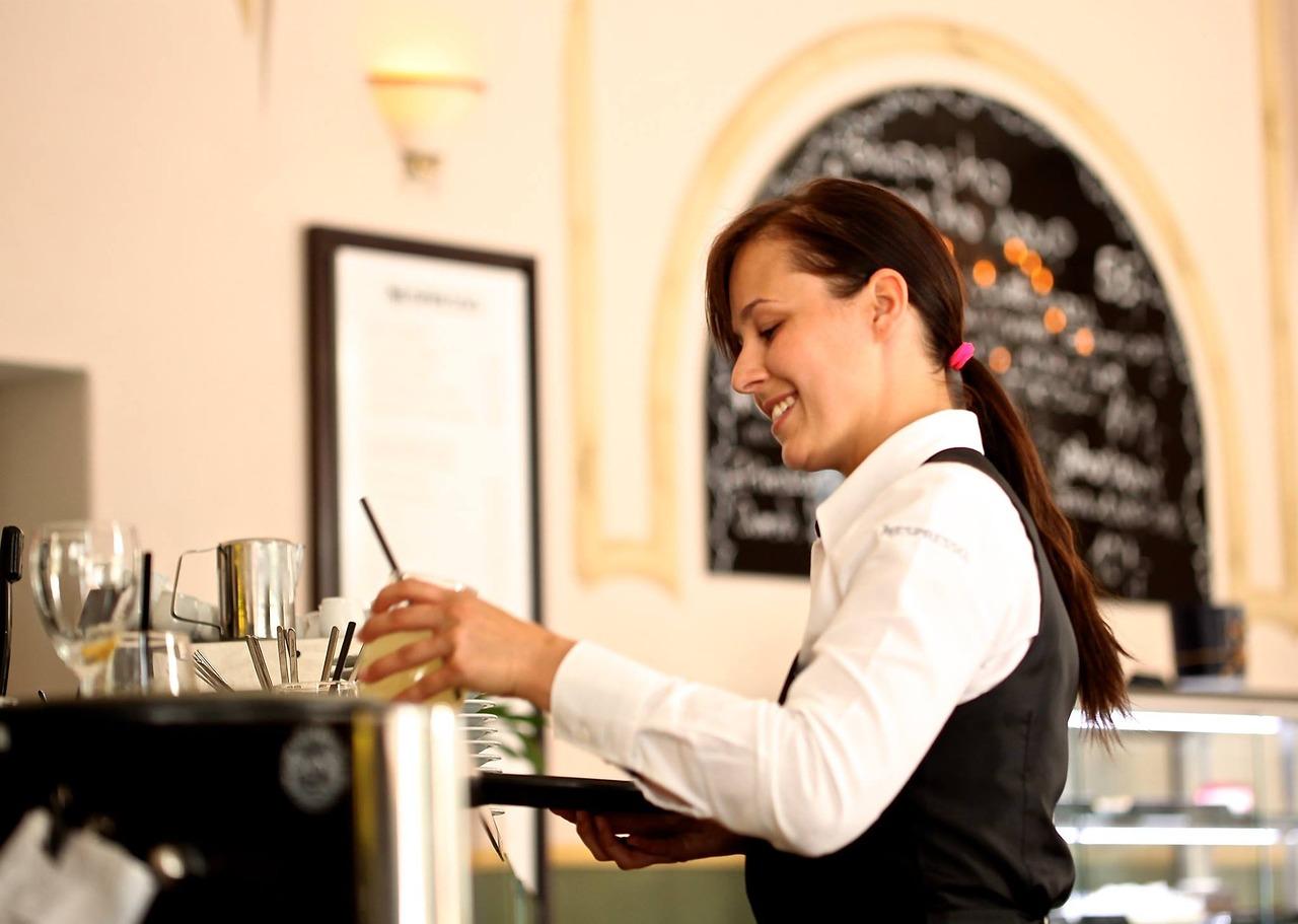 waiter waitress worker employed