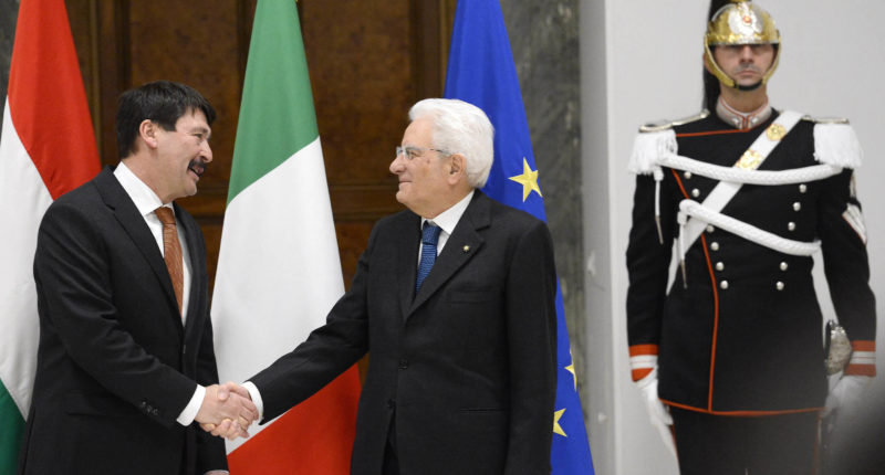 hungarian president in rome